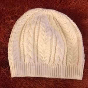 Cable-Knit Wool-Cotton Hat
